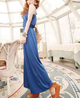 New Korean Women Sleeveless Wide Leg Slim Soft Jumpsuit Pant Long 2