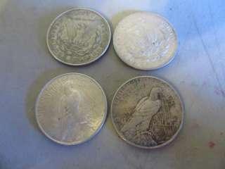 1902 1921 1922 1924 MORGAN & PEACE SILVER DOLLAR LO NO RESERVE |