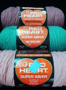 Red Heart Super Savers Yarn Lot 24 Oz Rose Pink Country Rose Spruce