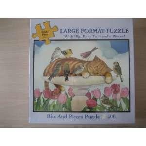 300 Piece Large Format Puzzle Birdbath Nap Toys & Games