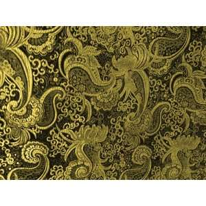 /gold Paisley Metallic Brocade 45 By the Yard Arts, Crafts & Sewing