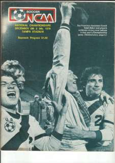 1979 NCAA National Champions Soccer Media Guide