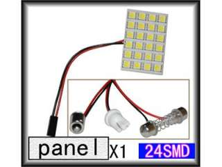 Panel White 24 5050 SMD LED Car Interior Dome Bulb Lamp