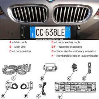 Meta Front Number Plate Parking Sensors Kit RTGi4