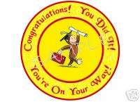 Edible Cake Image Curious George Graduation Circle
