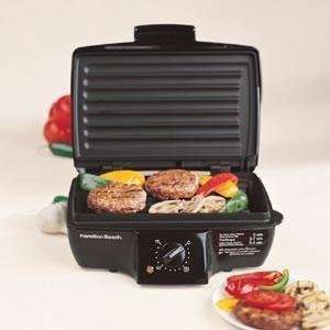 HAMILTON BEACH 25275 Express Indoor Contact Grill   Black