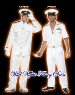 NAVY/SAILOR FANCY DRESS # TOP GUN CAPTAIN OFFICER GENTLEMAN COSTUME