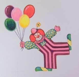 Clown Floating w Balloons Production Work Bob Jensen