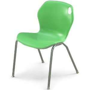 18H Intuit Stacking Chair with Powder Coat Frame   Mint
