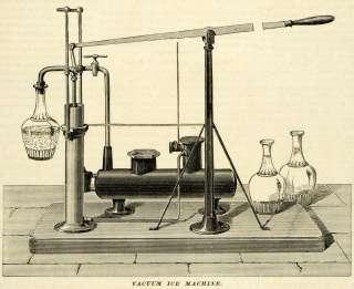 1874 Print Antique Vacuum Ice Machine Ferdinand Carre Refrigeration