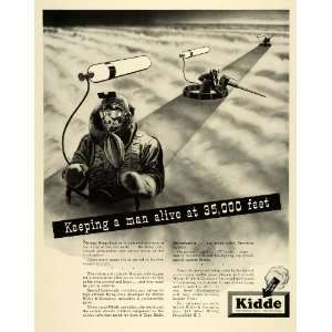 1943 Ad Walter Kidde Pressurized Gas Carbon Dioxide WWII