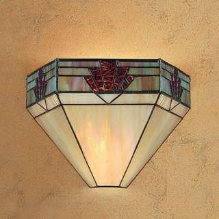 Beautiful Nevada hand crafted tiffany wall light with natural shades