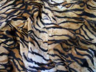 1m+ Tiger Faux Fur Velboa Fabric