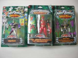 POWER RANGERS   WILD FORCE  BLACKDELUXE SAVAGE,RED ZORD & JINDRAX