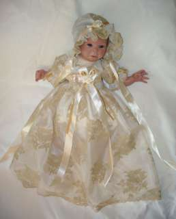 reborn baby doll dress fit 14 18 Vintage style Christening gown