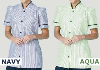 NEW   NURSE / MEDICAL TUNIC UNIFORM STRIPED AQUA & NAVY
