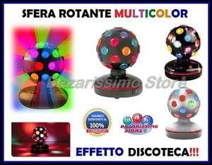 ROTANTE LUCE LED LAMPADA EFFETTO DISCOTECA DISCO DJ MULTICOLORE BALL