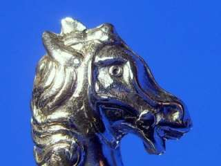 ANTIQUE ART DECO STERLING SILVER ROCKING HORSE BROOCH