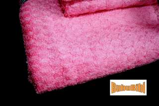 piece Bamboo Bath/Face/Hand Towel Set Eco PINK