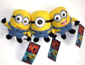 DESPICABLE ME MINION STUFFED TOY DAVE JORGE STEWART SET