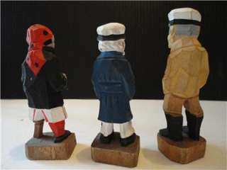 VINTAGE HAND CARVED SMALL WOOD SAILORS EXCELLANT