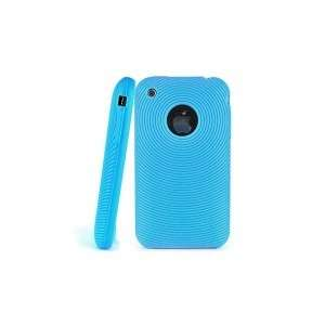 COQUE HOUSE IPHONE 3G 3GS SPIRALE SILICONE TURQUOISE !