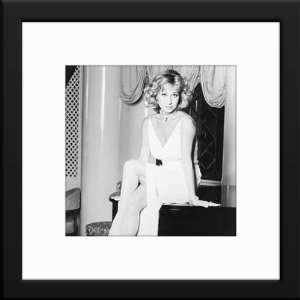 Felicity Kendall Custom Framed And Matted B&W Photo Total