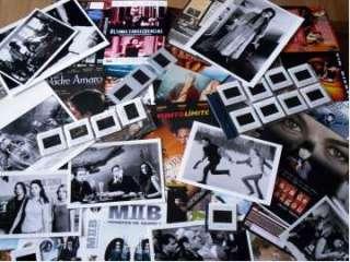Lote material cine para coleccionistas fotos, diapositivas películas