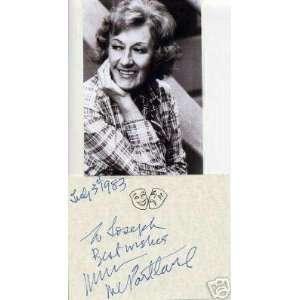 Marian McPartland Jazz Big Band Singer Signed Autograph w