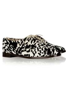 Tibi Animal print brogues   50% Off Now at THE OUTNET