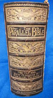 ANTIQUE* 1880S HUGE Family Pictorial Holy Bible Old & New Testaments