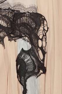 Julien Macdonald Lace detailed silk chiffon dress    Now at THE
