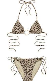 Melissa Odabash Cheetah print string bikini    Now at THE