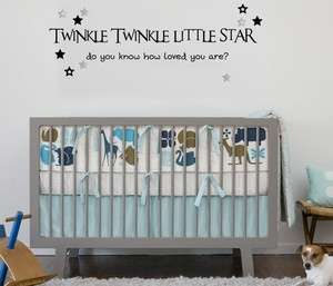 Twinkle Twinkle star nursery wall sticker vinyl decal