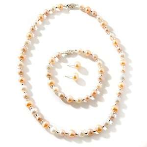 Freshwater Pearl Sterling Silver 3 piece Jewelry Set