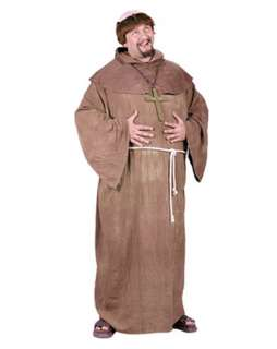 Medieval Monk with Wig Adult Costume  Wholesale Biblical/Religious