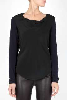 Phillip Lim  Long Sleeved Cowl Silk Bodice Top by 3.1 Phillip
