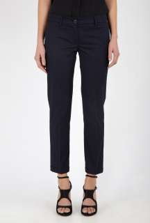 Love Moschino  Navy Cropped Cuffed Cotton Chinos by Love Moschino