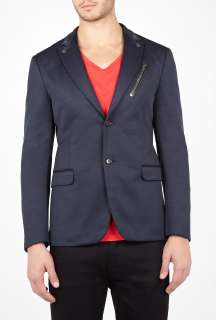 Moschino  Navy Biker Zip Slim Blazer by Moschino