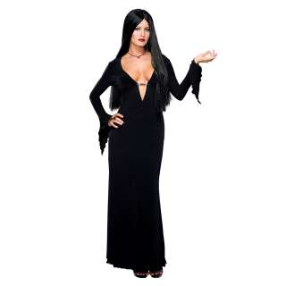 Addams Family Sexy Morticia Adult Costume   Includes: Dress. Wig