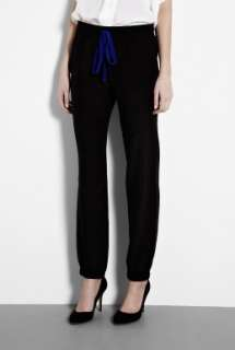 Sonia by Sonia Rykiel  Black Silk Drawstring Trousers by Sonia by