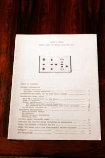 Advent 101 Noise Reduction Unit Owners Manual ORIGINAL