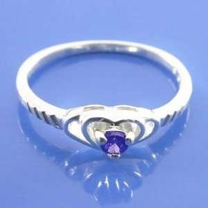 1.70 grams 925 Sterling Silver Gemstone Heart lady Fancy