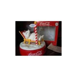 Coca Cola Polar Bear Musical Alarm Clock 1996 edition