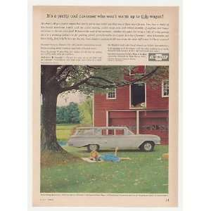1960 Chevy Kingswood Station Wagon Red Barn Print Ad
