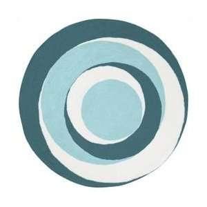 PLY 6028 Area Rug   6 Round   Light Blue, White Home & Kitchen