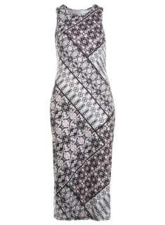 Home Dress Shop Day Dresses Patchwork Print Midi Dress
