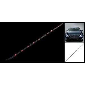 Amico Car Auto Decorative Red Light 11 LED Flexible Strip