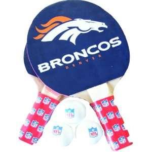 NFL Denver Broncos Table Tennis Racket And Ball Set