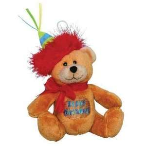 Birthday Bear Plush Balloon Weight 4.4 Oz. Toys & Games